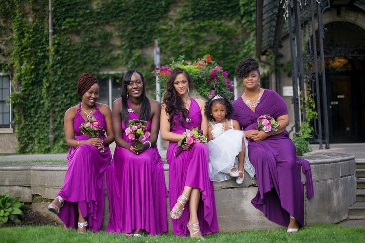 Purple Bridesmaid Dress || Purple Wedding Inspiration  The Coordinated Bride Wedding Blog