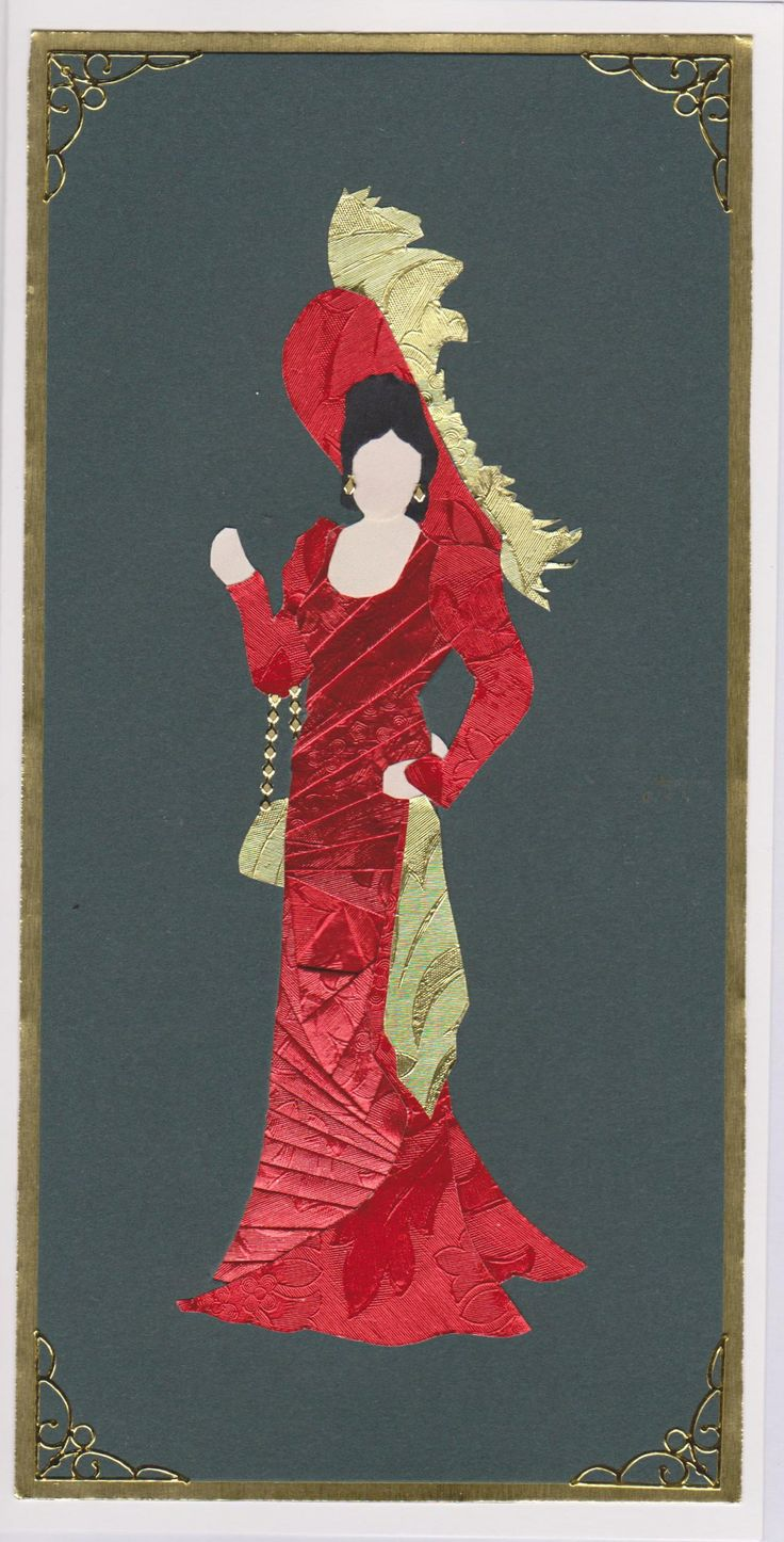 """""""Western lady"""" in red"""