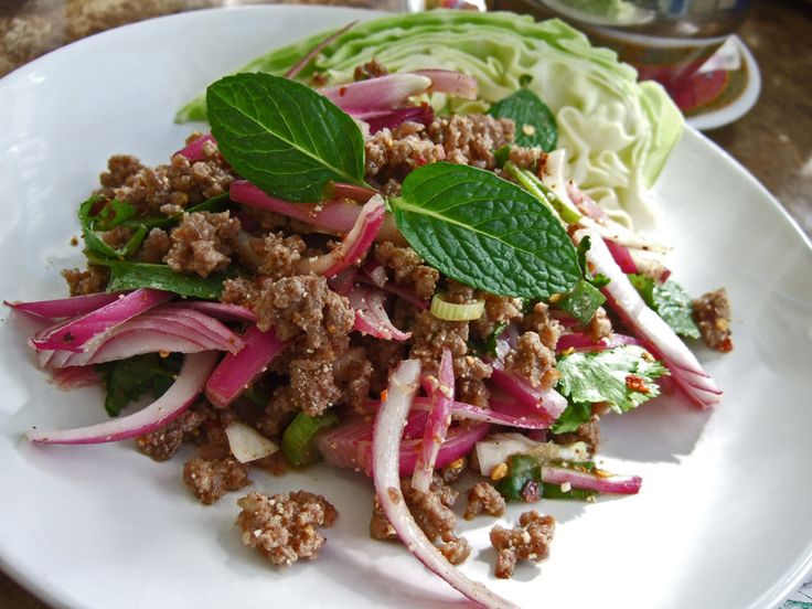 Thai Food Recipe - How To Make Larb Nuea, Spicy Minced Beef Salad