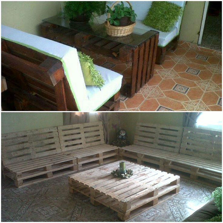 My first pallet projects #PalletFurniture