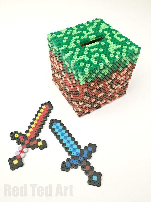 We love minecraft & we adore decent minecraft crafts. The pixelated minecraft images are perfect for perler bead crafts too. Make this awesome moneybox DIY.