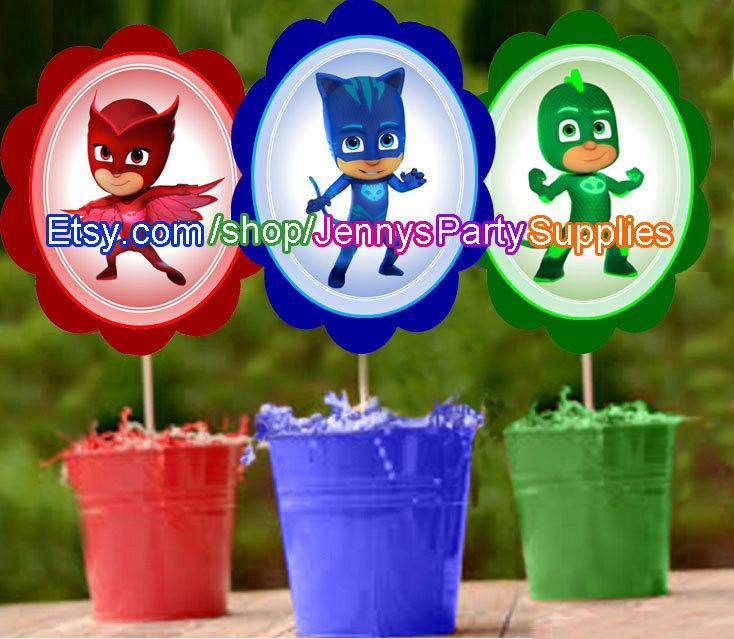Pj Mask Party Decorations Inspiration 110 Best Pj Masks Party Images On Pinterest  Birthdays Mask Party Review