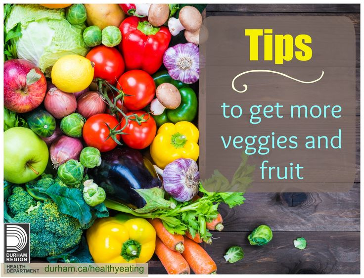 Eating vegetables and fruit help you achieve and maintain a healthy weight and can decrease your risk for diabetes, heart disease, cancers, high blood pressure and stroke. Try using some of these great tips to get more veggies and fruit in your day!