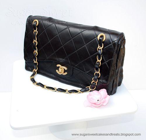 Chanel Classic Handbag Cake (tutorial) by Angela Tran (Sugar Sweet Cakes & Treats)