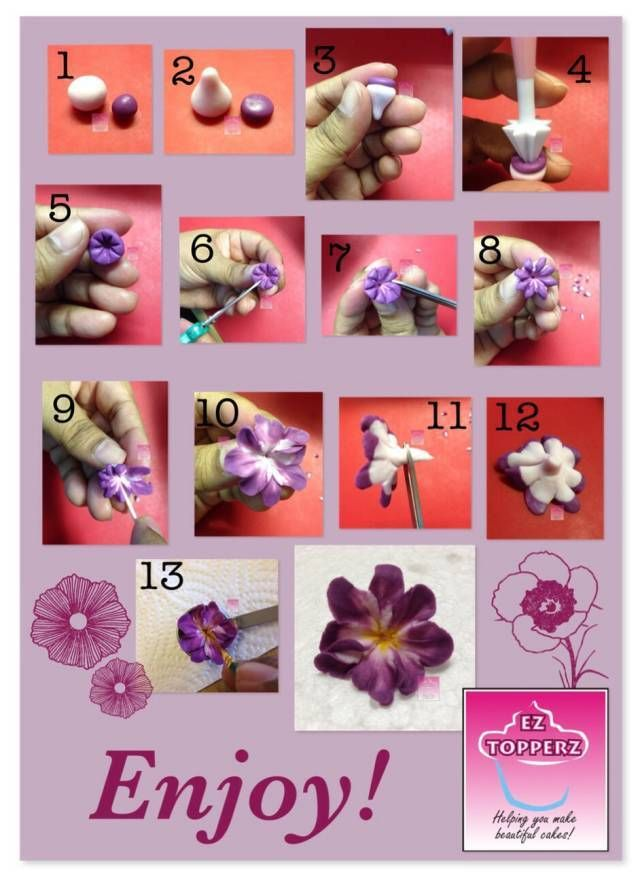 My take on an easy 2toned filler flower. Depending on what you need it for, you could put it on a wire or add stamens. Invert your colours for a completely different look. These are really quick & easy so have fun with them!