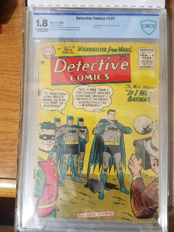 Detective Comic #225 - Manhunter from Mars - CBCS Graded 1.8  | eBay