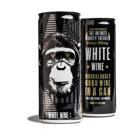 $15 per pack of four BUY NOW  Denver-based winery The Infinite Monkey Theorem is on to something ridiculously good with their delicious line of canned wines. Their white-wine blend is lightly carbonated, slightly citrusy, and mega-refreshing — the perfect beach buddy.