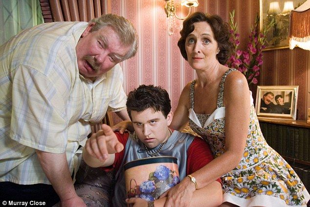 Left to right: The late Richard Griffiths as Uncle Vernon, Harry Melling as Dudley and Fiona Shaw as Petunia in Harry Potter and the Order of the Phoenix