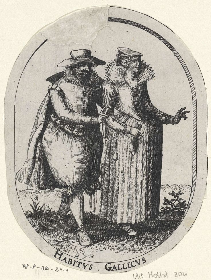 Elegant paar in Franse kleding, Claes Jansz. Visscher (II), 1607