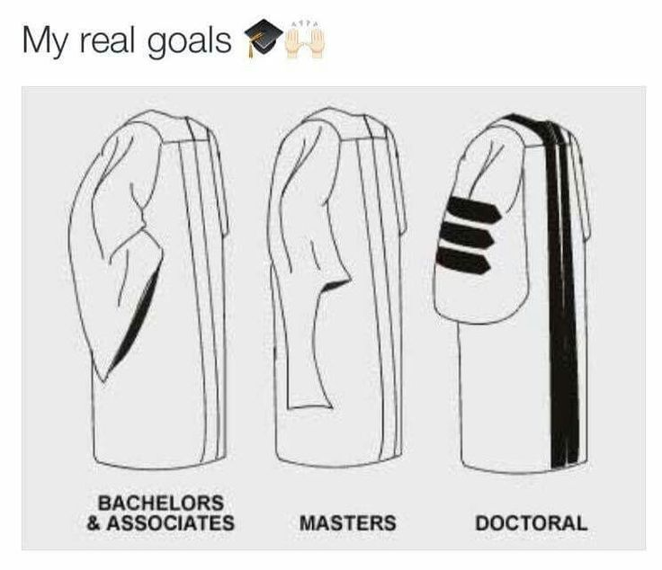 My real goals. Bachelors then right to the PhD