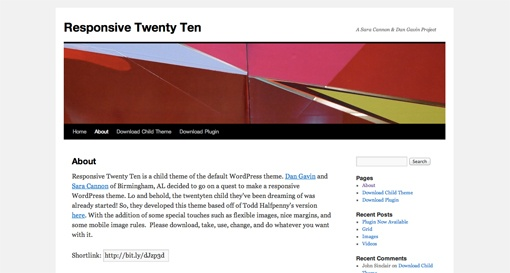 #responsive #wordpress #theme Responsive Twenty Ten (WP Theme)