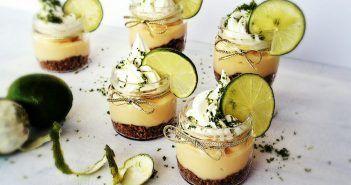 Tortinha de limão no pote