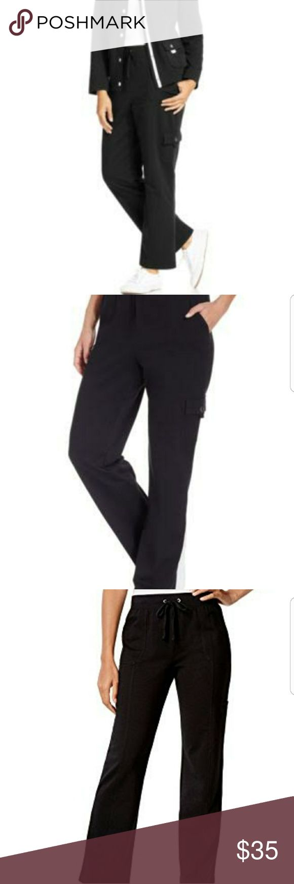 🎉 New Karen Scott Sport Drawstring Cargo Pants New Karen Scott sport Drawstring Cargo Pants  97% Cotton 3% Spandex Machine Wash  3 pockets  all together. 2 side slash pockets and a small cargo pocket on one leg NEW WITH TAGS  Size Large   I do bundle and offers are welcome Karen Scott Pants