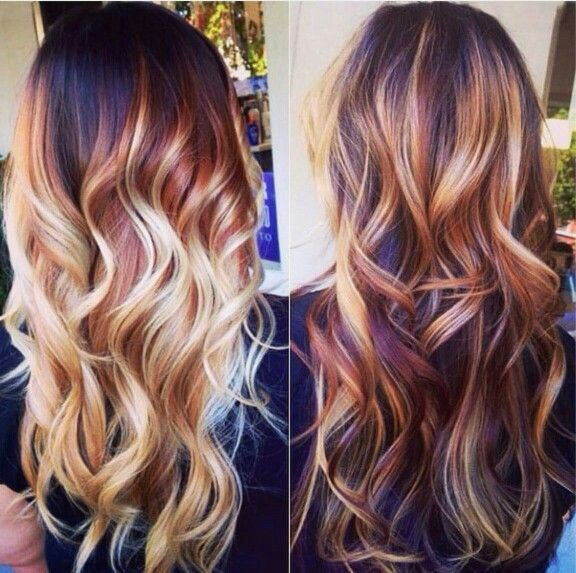 Stupendous 1000 Ideas About Red Balayage Highlights On Pinterest Red Short Hairstyles Gunalazisus