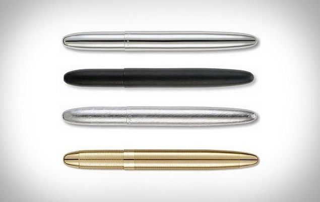 The Fisher Space Pen ($22) works in zero gravity as well as in extreme temperatures from -30 to 250 degrees Fahrenheit. It also writes in at every angle, even upside down, and comes in four galactic colors.