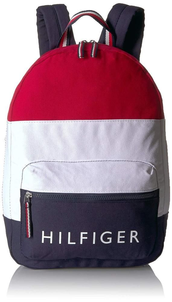 2d9db4e6 Tommy Hilfiger Women's Backpack Patriot Colorblock Canvas, Core Navy, Tommy  Red This Tommy Hilfiger backpack is a versatile essential ; the perfect  backpack ...