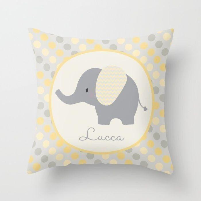 Capa de almofada Elefante Amarelo - AMANDA MERLIN
