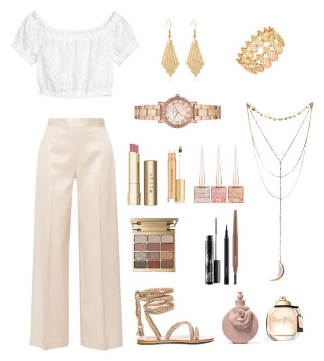Beige by livfanllya on Polyvore featuring polyvore, fashion, style, The Row, Michael Kors, INC International Concepts, Stila, Kevyn Aucoin, MAC Cosmetics, Christian Louboutin and clothing