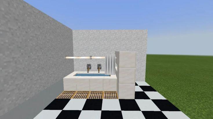 Minecraft Furniture Bathroom Minecraft In 2020 Minecraft Room Minecraft Interior Design Easy Minecraft Houses
