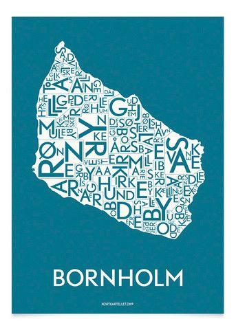 BORNHOLM - Plakate von Kortkartellet