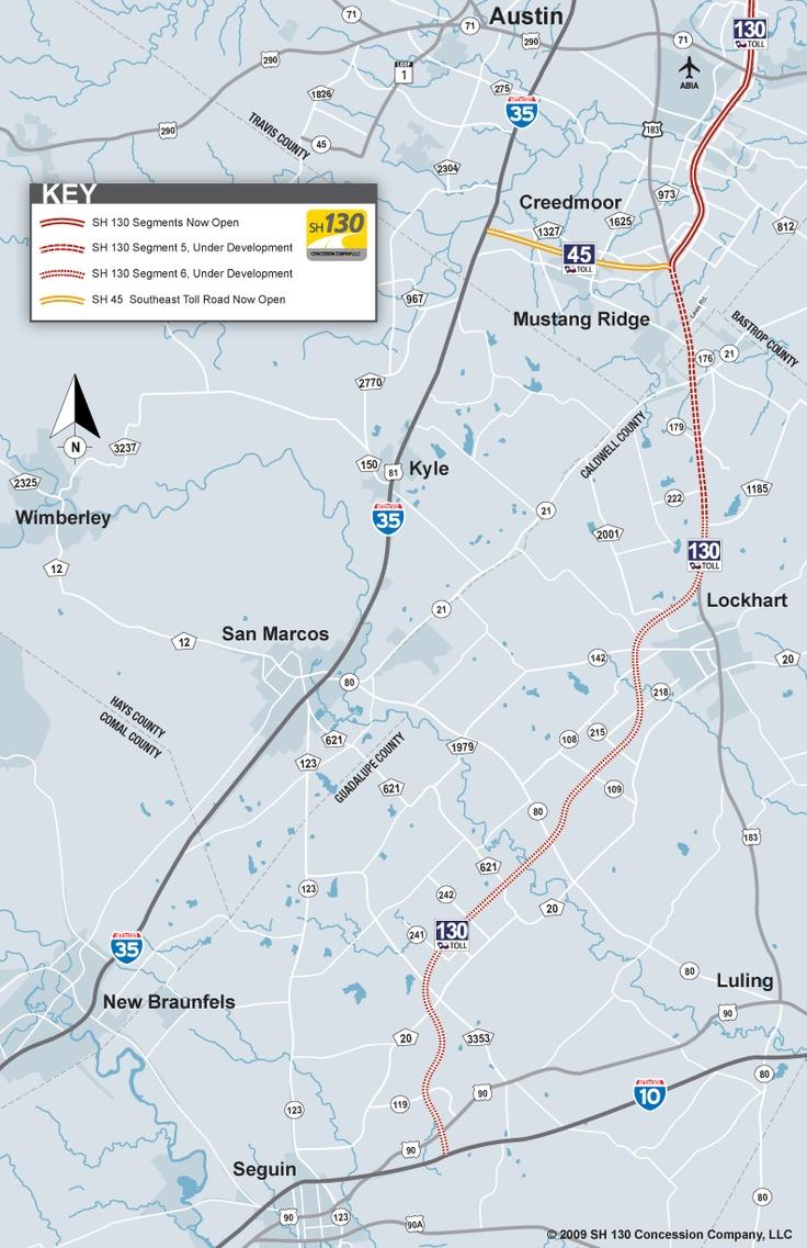 Toll 130 To San Antonio Map