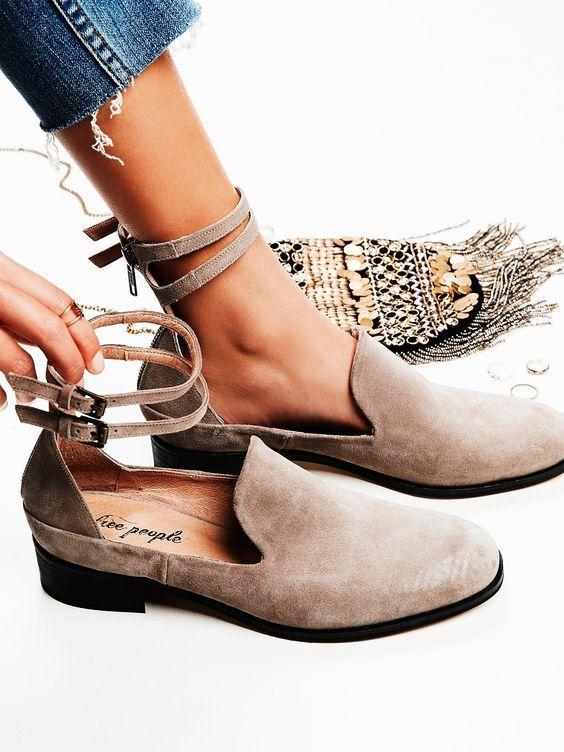 Women Shoes Flat Floral Cut Out