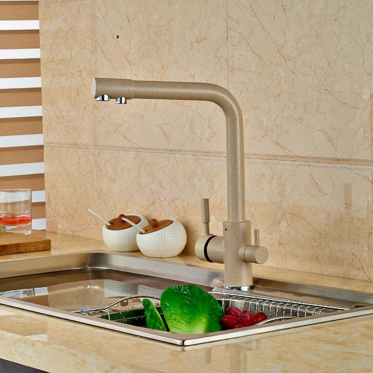 Modern Kitchen Faucet Pure Water Spout Tap Single Hole Vessel Sink Mixer Tap - ICON2 Luxury Designer Fixures  Modern #Kitchen #Faucet #Pure #Water #Spout #Tap #Single #Hole #Vessel #Sink #Mixer #Tap