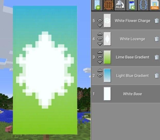 Minecraft Element Of Light Banner Minecraft Blueprints
