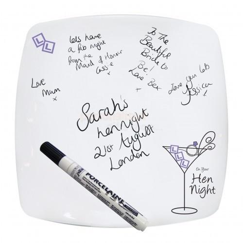 Hen Night Message Plate (Dishwasher Safe)