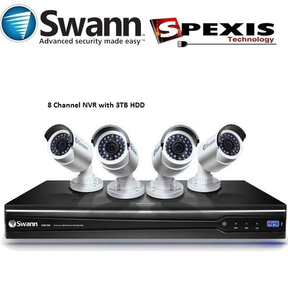 On Sale for a very limited time. Limited stock. Only for $1490 Normally RRP $2499. Buy Now!. Swann HD 1080P NVR8-7200 8 Channel NVR with 4x NHD-820 Cameras - SWNVK-872004