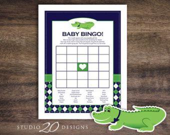 Instant Download Preppy Alligator Diaper Raffle by Studio20Designs