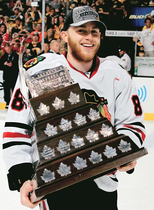 Patrick Kane with the Conn Smythe