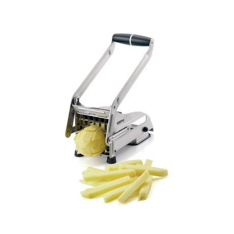 So much more than just a French fry maker, this slicer is perfect for making sweet potato fries and crudités en masse. The sharpened stainless steel blades are positioned to cut up to 36 12mm squares at once. You don't have to make french fries, b...