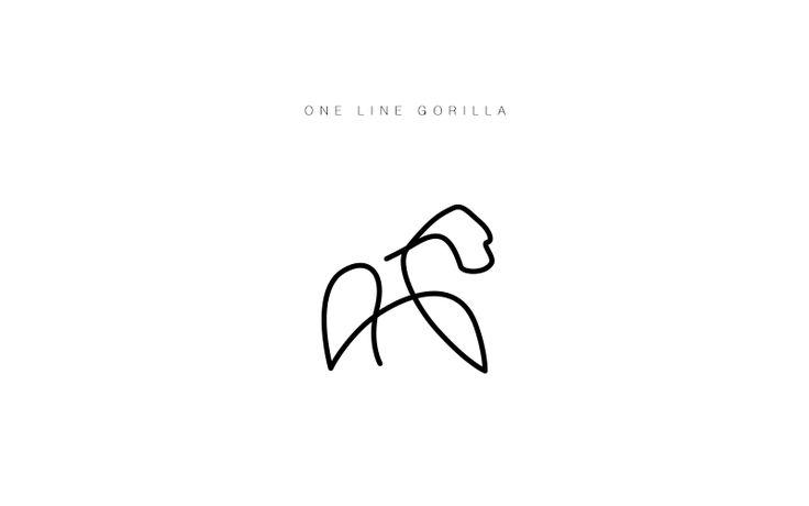 animal logos - gorilla