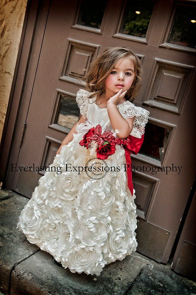 """An Eternal Promise""... A Satin Dress For Your Little Lady"