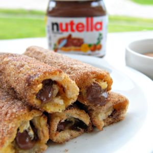 Nutella French Toast Rolls with Cinnamon Sugar Recipe
