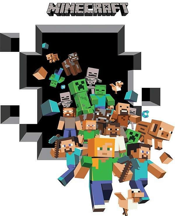 minecraft wall decals google search minecraft minecraft personalised wall art decal sticker
