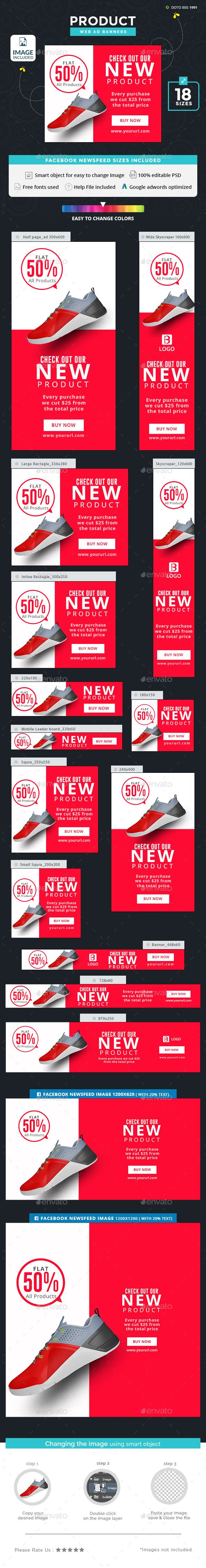 Product Sale Banners Template PSD