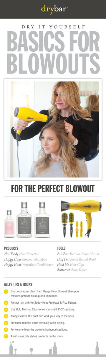 Get the look from DRYBAR! Founded by longtime professional hairstylist Alli Webb, Drybar offers a line of styling products and tools designed specifically to achieve the perfect blowout.  She and and her team of more than a thousand stylists do over 50,000 blowouts every month!