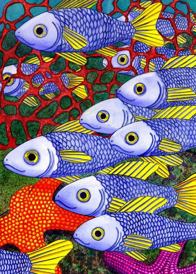 Yellow Fins Painting  - Yellow Fins Fine Art Print