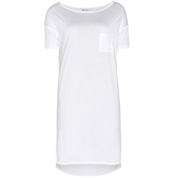 T by Alexander Wang Classic Jersey T-Shirt Dress ($115) ❤ liked on Polyvore featuring dresses, white, t by alexander wang, jersey tee dress, white dress, tee dress and jersey t shirt dress