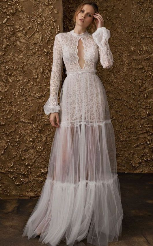 You will love these un-bridal wedding dresses if you can't see yourself wearing …
