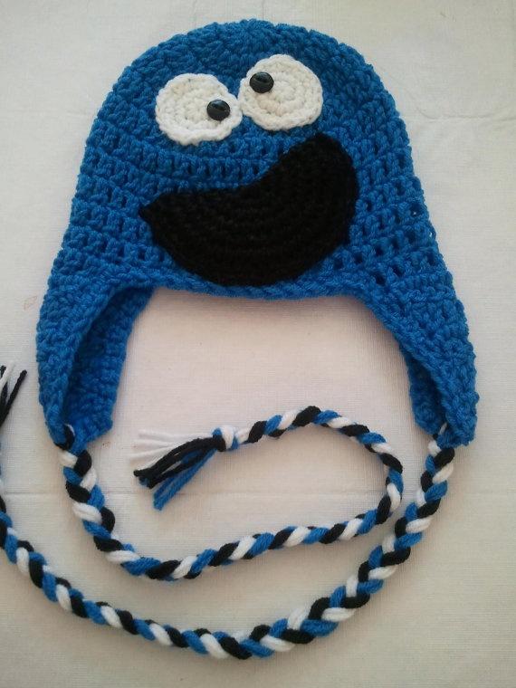 Cookie Monster Earflap