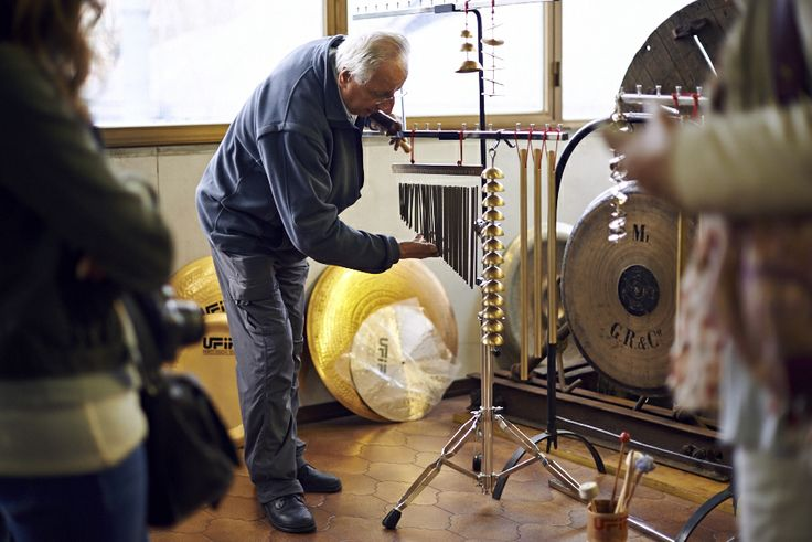 Mr. Tronci and his famous Cymbals factory