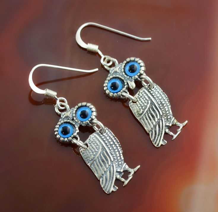 owls silver earrings, owls earrings, owl earrings, greek earrings, greek jewelry, Athena earrings, goddess jewelry, goddess earrings, greek by GreekGoddessJewelry on Etsy