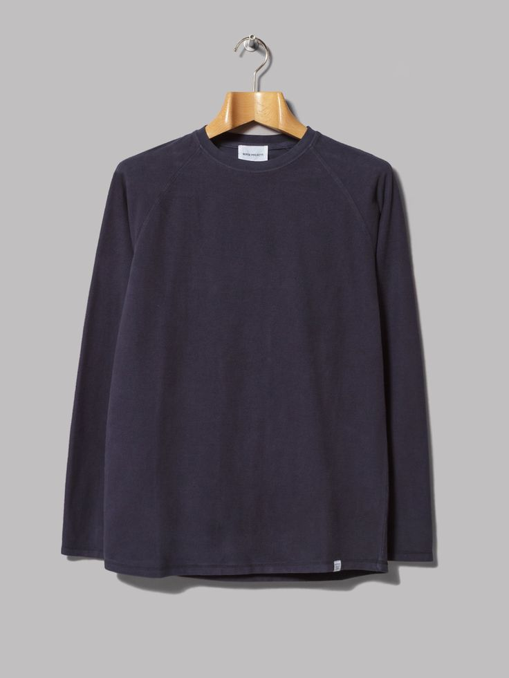 Norse Projects Victor Brushed Long Sleeve Tee (Navy)