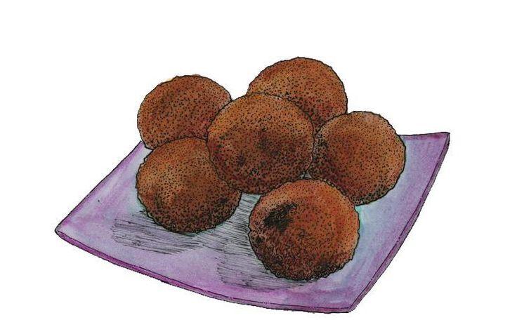 Kala is de Antilliaanse variant op de falafel. Wij gebruiken hiervoor black eyed peas of zwartoogbonen. Sommige mensen staan erop dat de velletjes van de bonen na het weken moeten worden verwijderd...