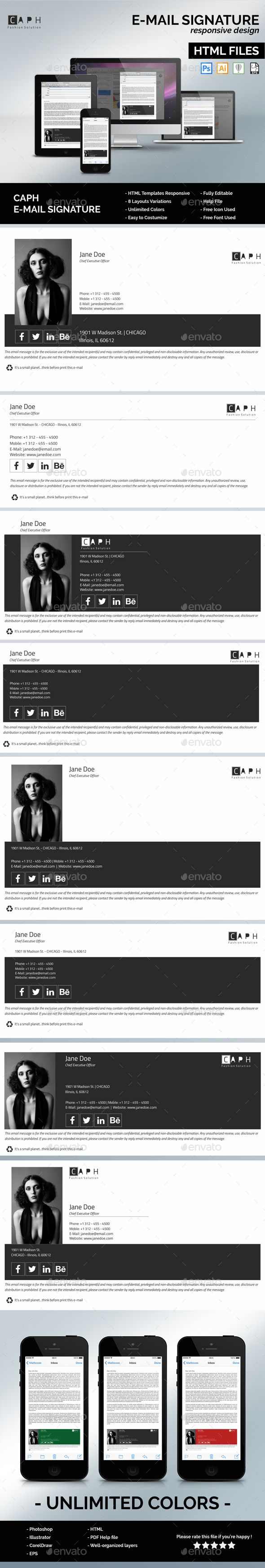 29 best Email Signature Templates images on Pinterest | Design web ...