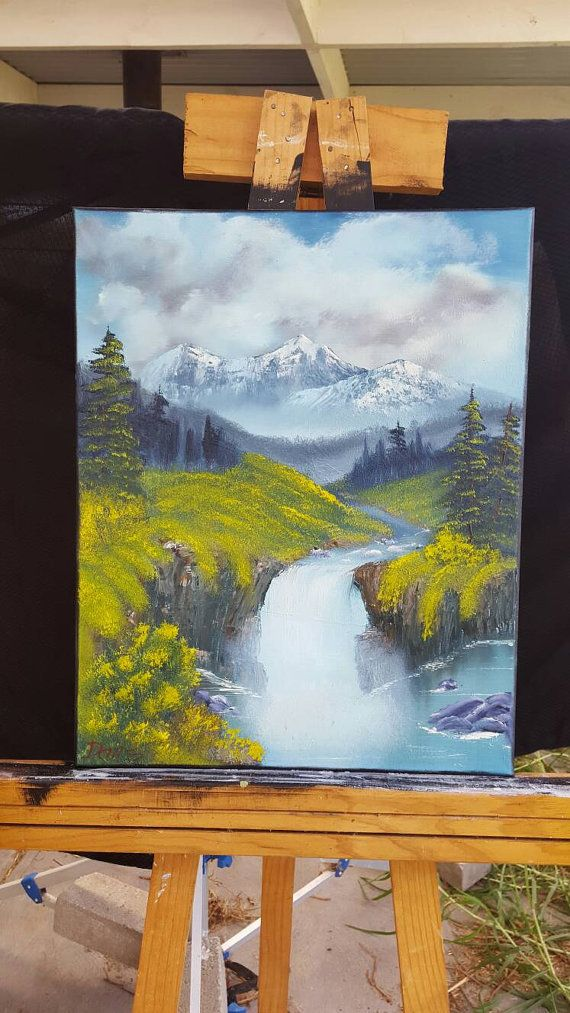 Check out this item in my Etsy shop https://www.etsy.com/au/listing/264477640/waterfall-oil-painting-mountain