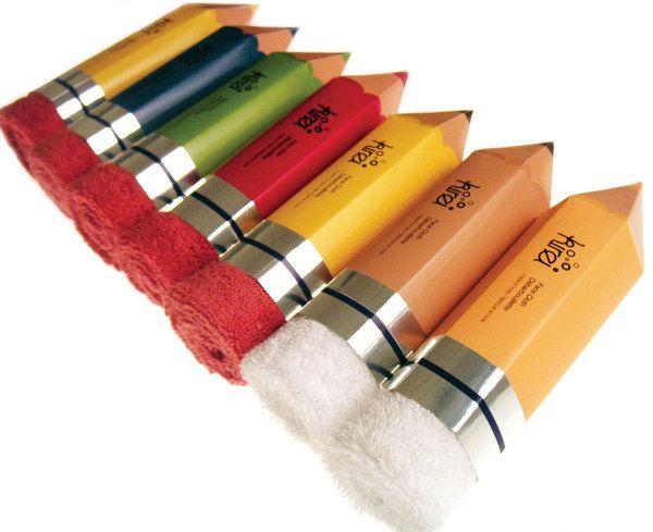 Estas imponentes toallas de lápiz. | 34 Empaques increíblemente lindos que necesitas ver